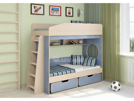 Двухъярусная кровать для мальчиков Легенда-10.2, спальные места 180х80 см