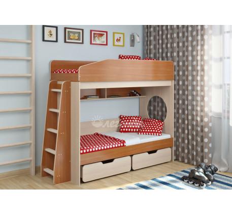 Двухъярусная кровать подростковая Легенда-10.2, спальные места 180х80 см