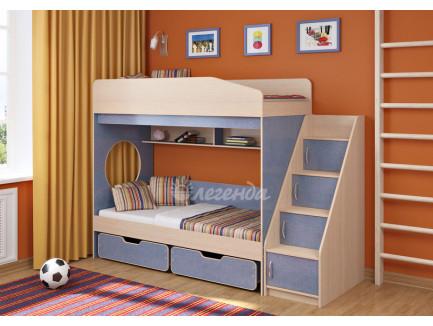 Двухъярусная кровать для мальчиков Легенда-10.3, спальные места 180х80 см