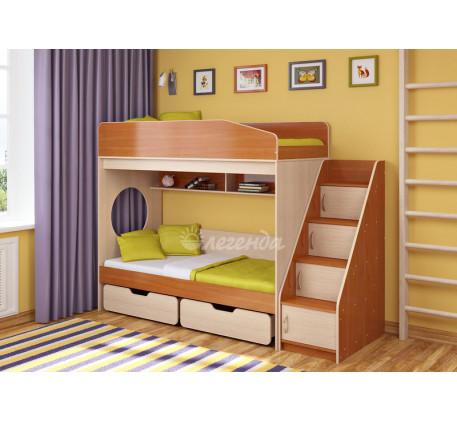 Двухъярусная кровать для подростков Легенда-10.3, спальные места 180х80 см