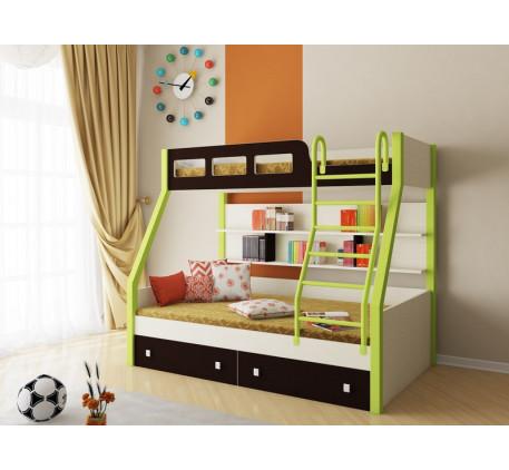Двухъярусная кровать Рио. Верхнее спальное место 190х80, нижнее 190х120 см