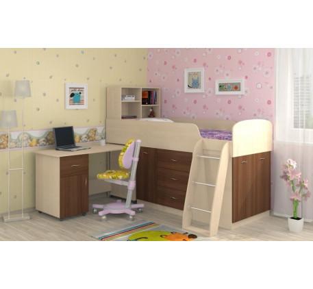 Кровать-чердак Дюймовочка-1, спальное место 190х80 см