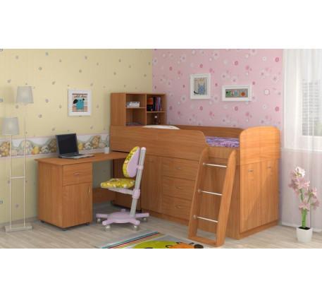 Кровать-чердак невысокая Дюймовочка-1 для детей, спальное место 190х80 см