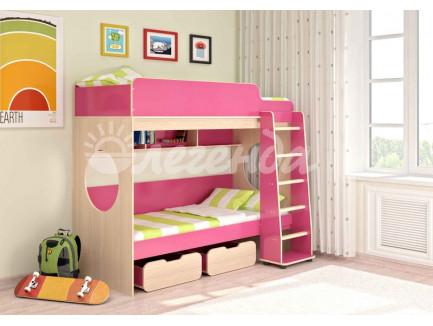 Двухъярусная кровать для девочек Легенда-7, спальные места 190х80 см