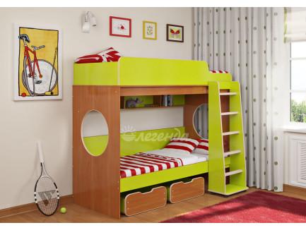Двухъярусная кровать с бортиками Легенда-7.1, спальные места 190х80 см
