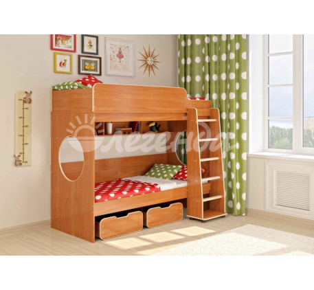 Двухъярусная кровать для подростков Легенда-7.1, спальные места 190х80 см