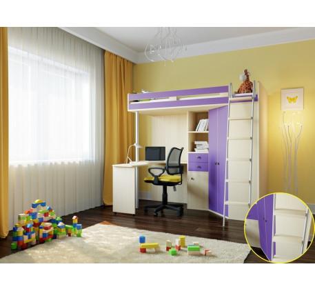 Кровать-чердак М-85, спальное место 195х80 см