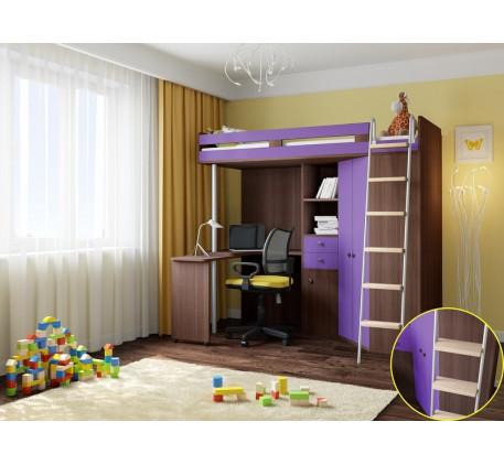 Кровать-чердак для детей и подростков М-85, спальное место 195х80 см