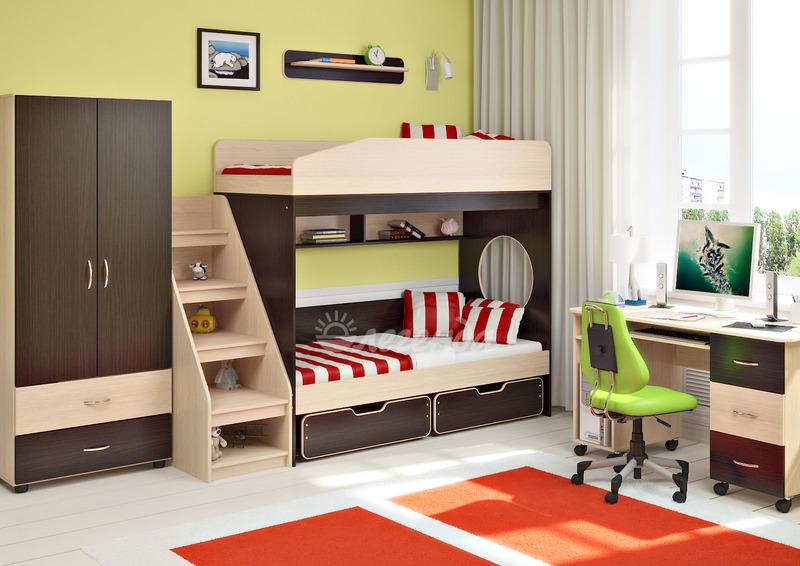 Детские комнаты с двухъярусной кроватью | balancedfoodandfuel.org | 566x800